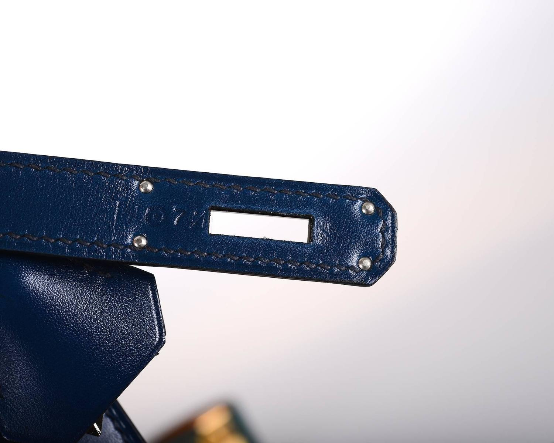 Hermes Kelly 28cm Golf Box Leather Blue De Prusse Bleu De Galice ...