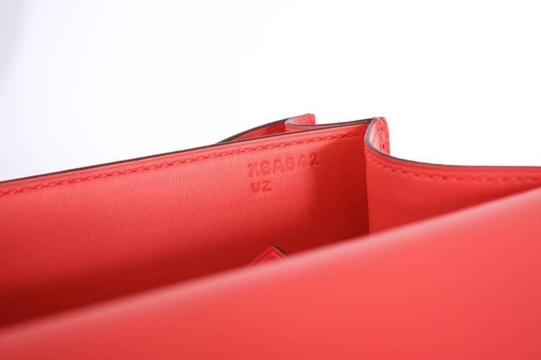 Hermes Constance 24cm Rose Jaipur Palladium Hardware 5