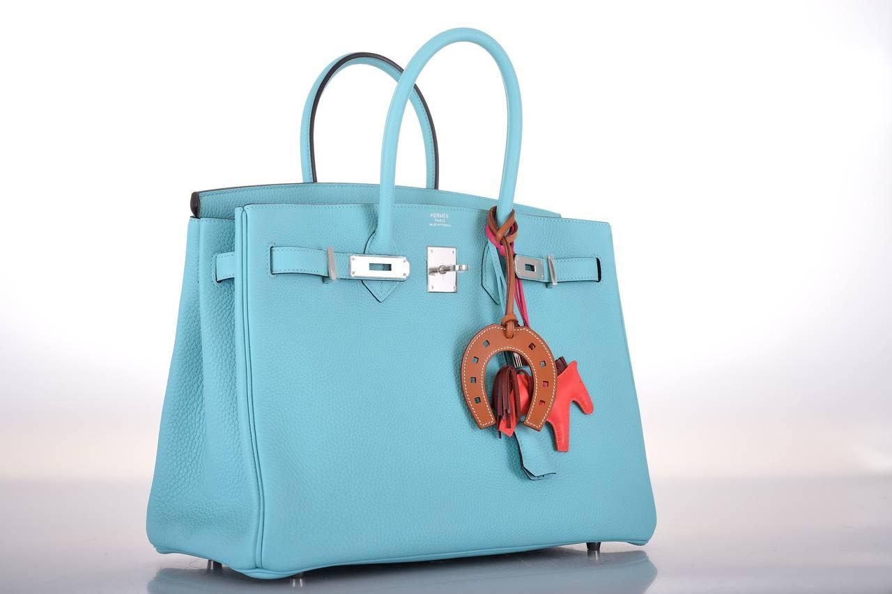 kelly bag hermes - HERMES BIRKIN Bag BLUE BLEU ATOLL TOGO PALL HARDWARE JaneFinds For ...