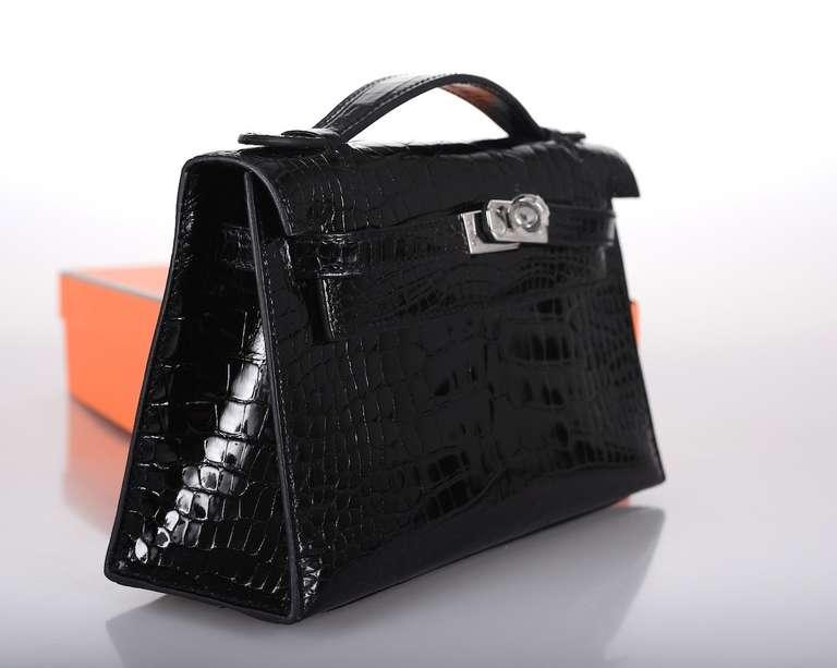 purple handbags cheap - The Best Ever! HERMES KELLY BAG JPG BLACK CROCODILE SHINY POCHETTE ...