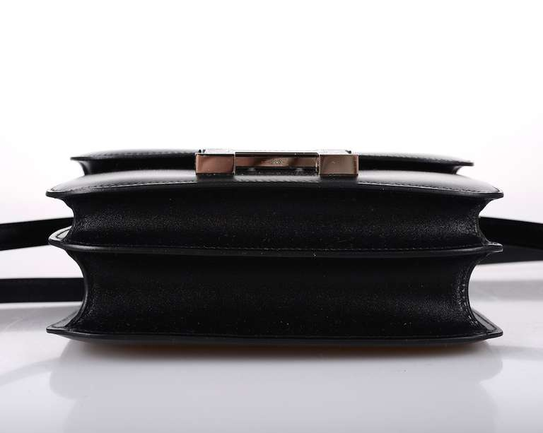 Hermes Constance 18cm Black Lizard Marquette Limited Edition At 1stdibs