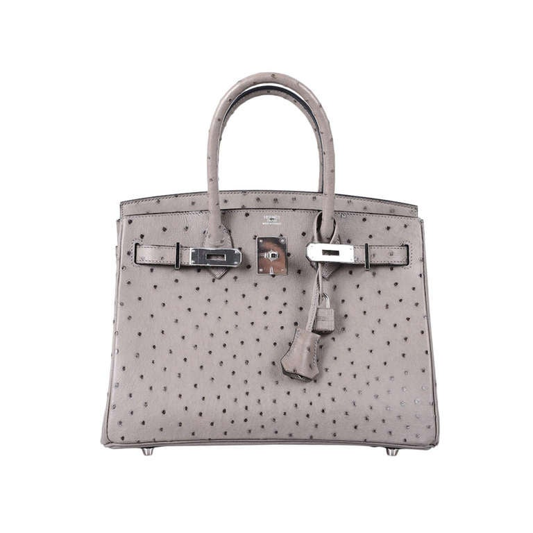 MUST C THIS! HERMES BIRKIN BAG 30cm GRIS TOURTERELLE DOVE GREY ...