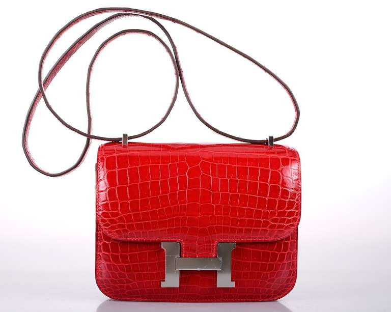 U WILL FLIP HERMES CONSTANCE NILO CROCODILE HOT RED BRAISE BAG ...