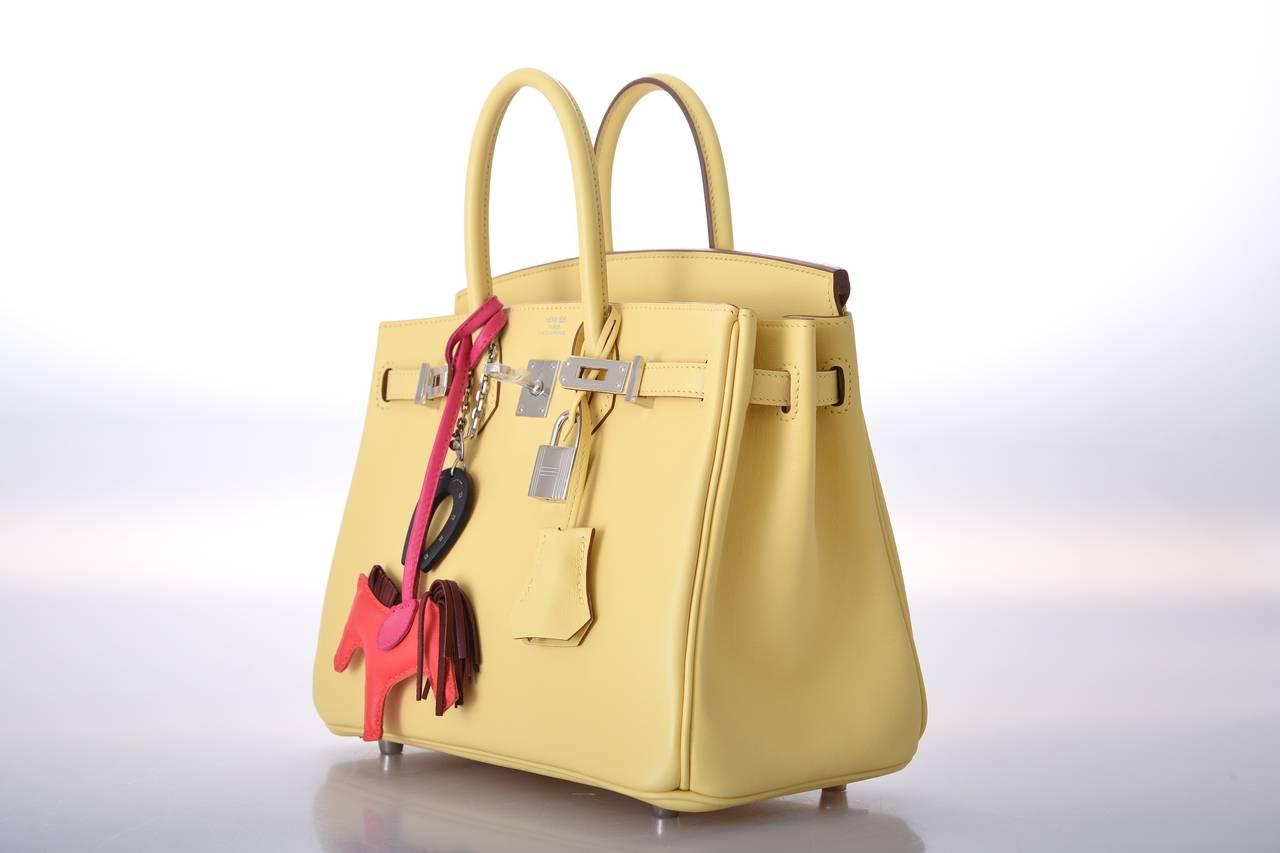 hermes birkin 25cm jaune poussin gold hardware in swift leather