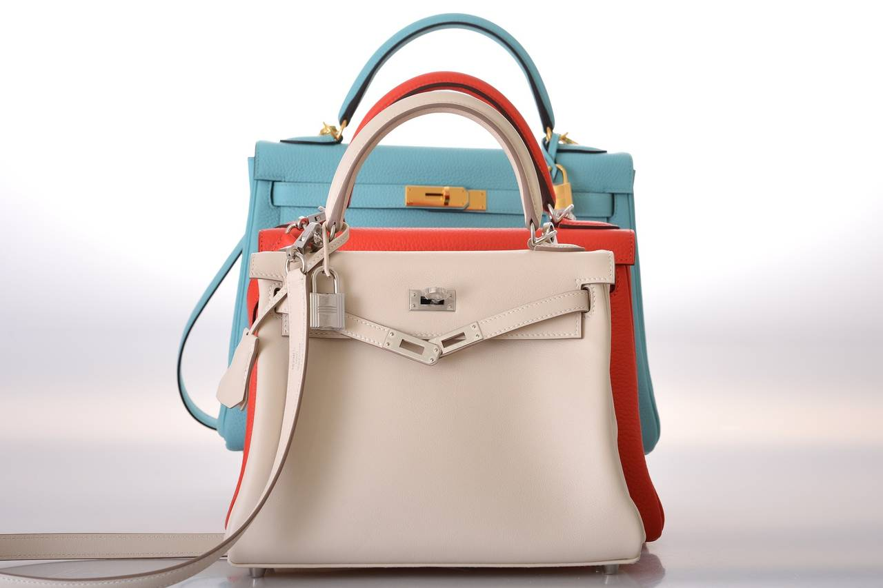 where to buy hermes birkin bags online - HERMES KELLY BAG 25cm CRAIE KELLY SWIFT PALLADIUM HARDWARE ...