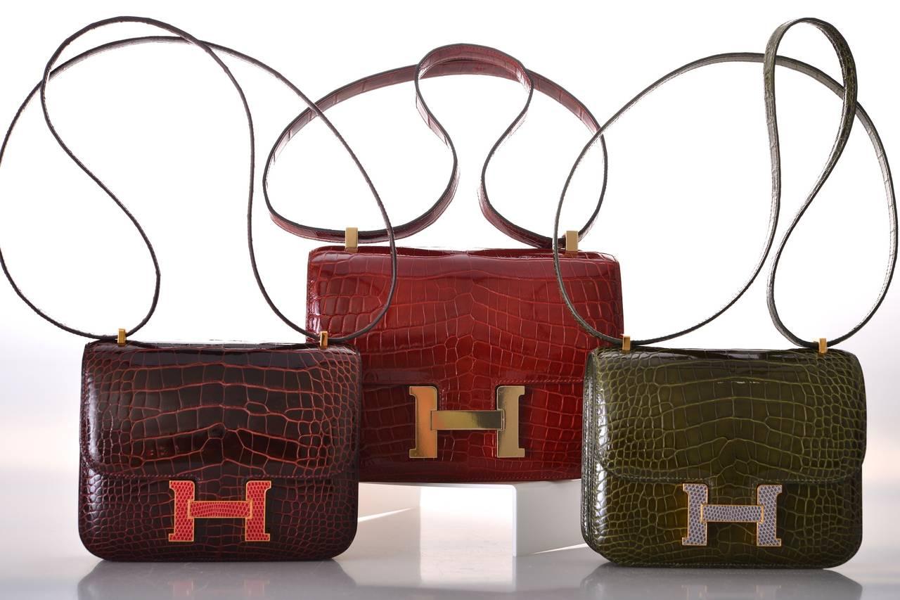 hermes constance crocodile mini bag