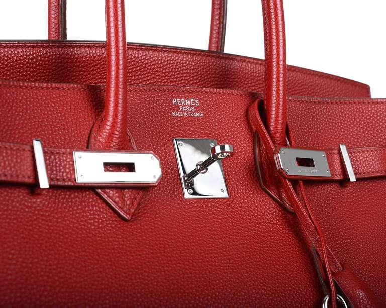 hermes taschen - PRE-LOVED HERMES BIRKIN BAG 35cm ROUGE CASAQUE RED FABULOSITY TOGO ...