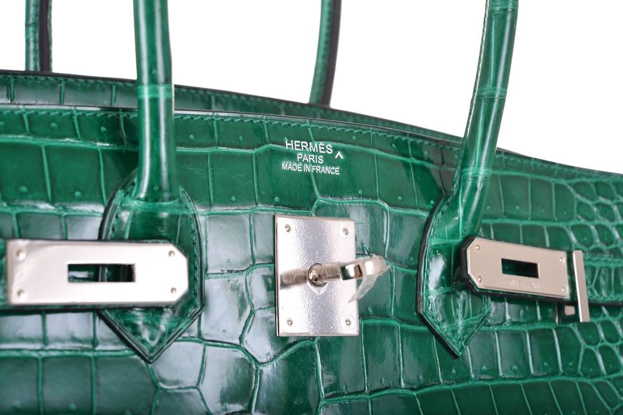knock off croc brands - HERMES BIRKIN BAG 35cm EMERALD GREEN CROCODILE (VERT ��MERAUDE ...