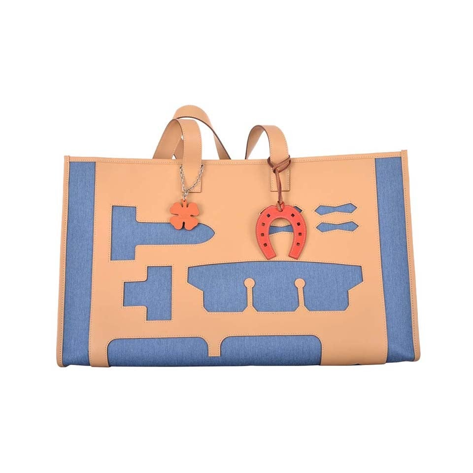 hermes leather tote bag
