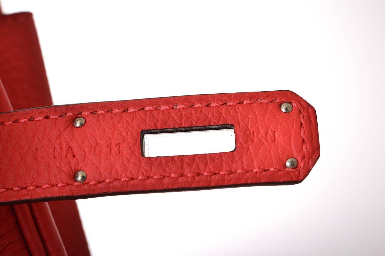 hermes rouge casaque leather birkin 35cm gold hardware