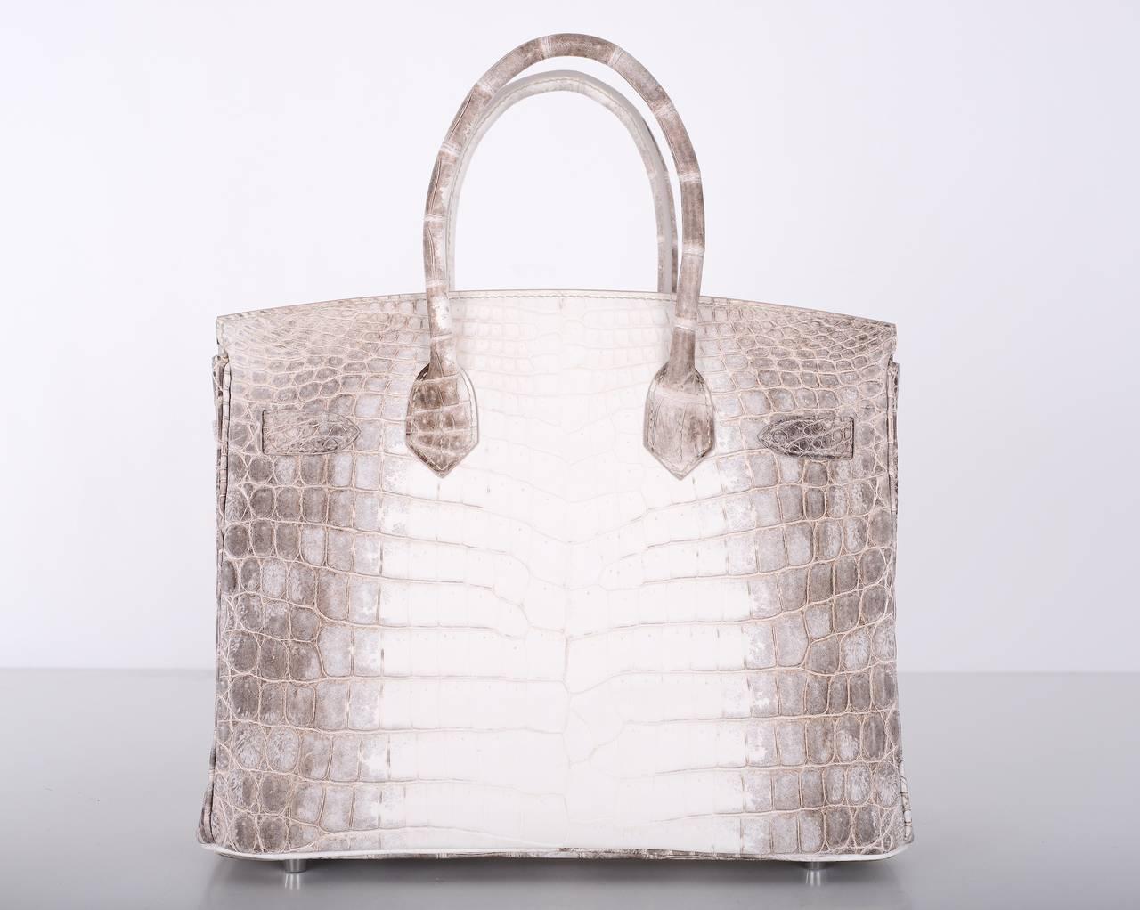 HERMES BIRKIN BAG 25cm HIMALAYAN WHITE NILO CROCODILE JaneFinds ...