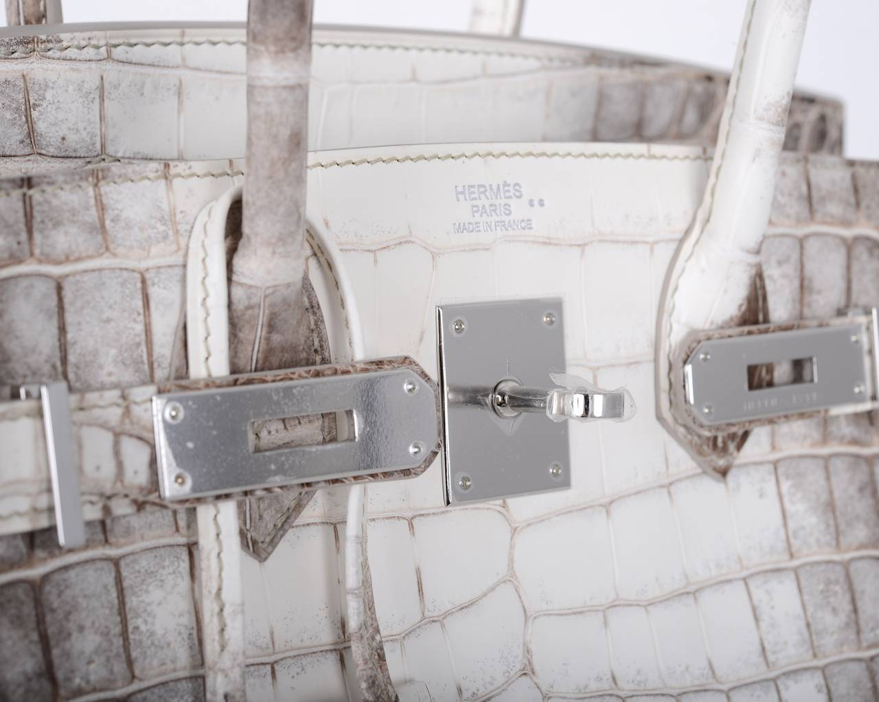 hermes birkin replica - HERMES BIRKIN BAG 25cm HIMALAYAN WHITE NILO CROCODILE JaneFinds ...