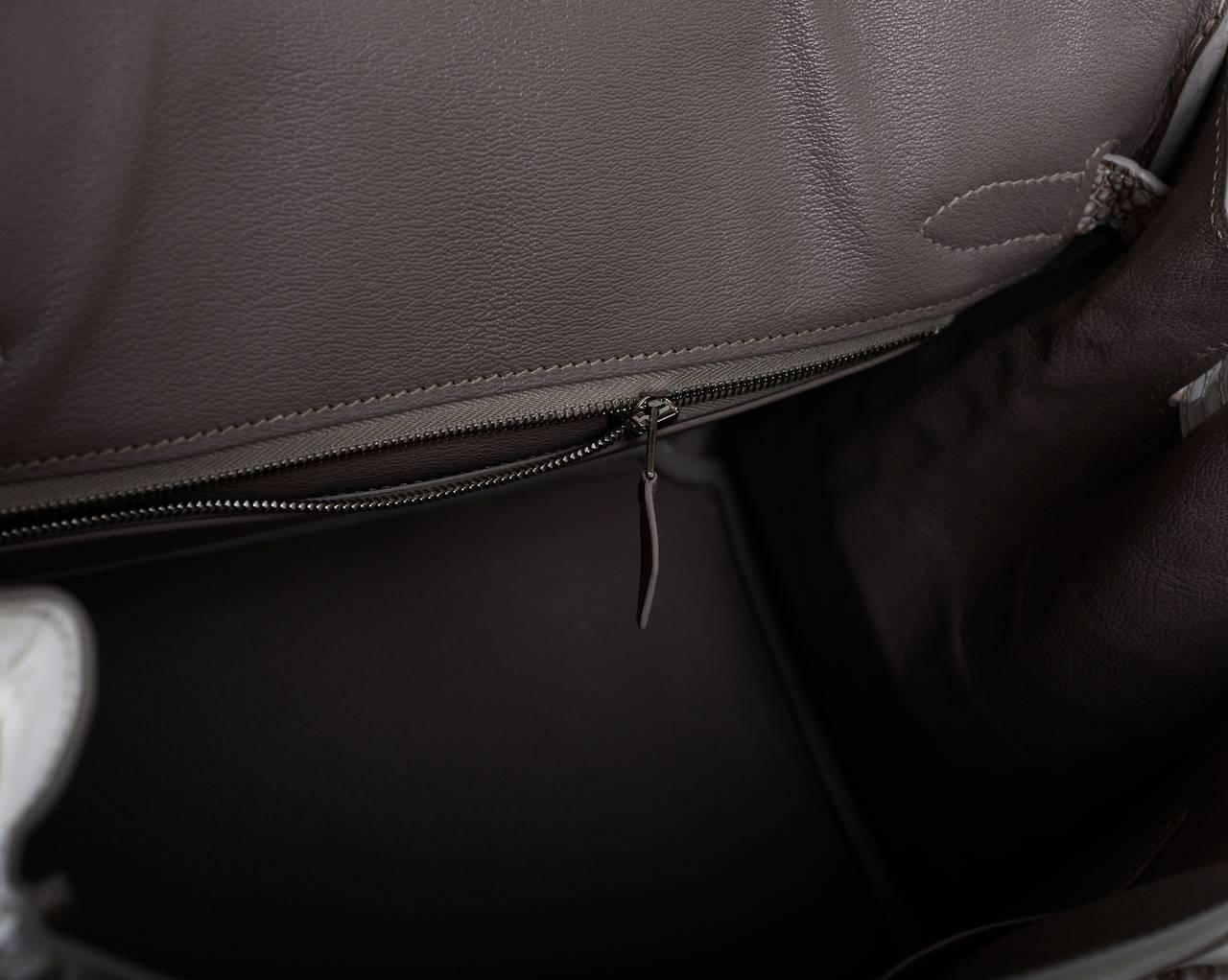 replica hermes kelly bag - HERMES BIRKIN BAG 25cm HIMALAYAN WHITE NILO CROCODILE JaneFinds ...