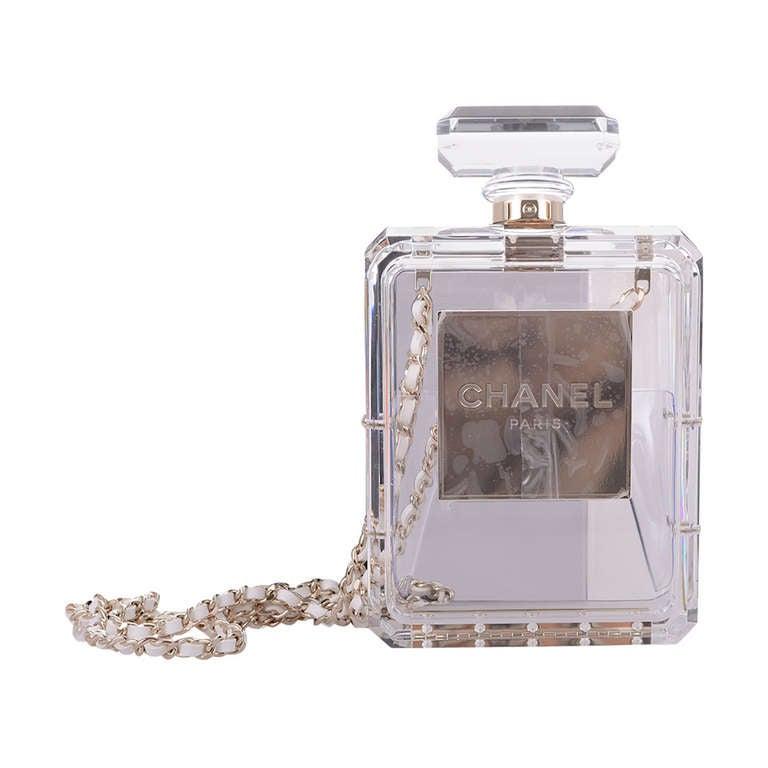 CHANEL #5 PERFUME BOTTLE PLEXIGLASS LOVE JaneFinds 1