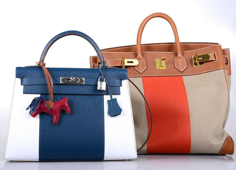 louis vuitton ostrich bag - LIMITED HERMES KELLY FLAG BAG 32cm WHITE * THALASSA * EPSOM at 1stdibs
