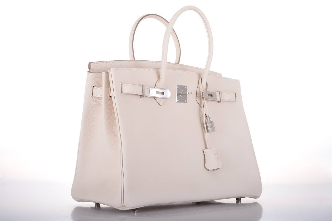 jelly birkin bag - HERMES BIRKIN BAG 35CM CRAIE CHALK EPSOM LEATHER GORGEOUS ...