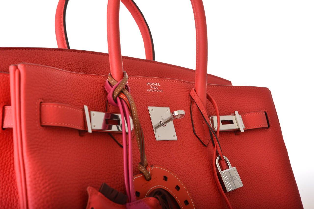 brighton backpack purse leather - HERMES BIRKIN BAG 35CM ROUGE PIVOINE WITH PALL HARDWARE TOGO ...