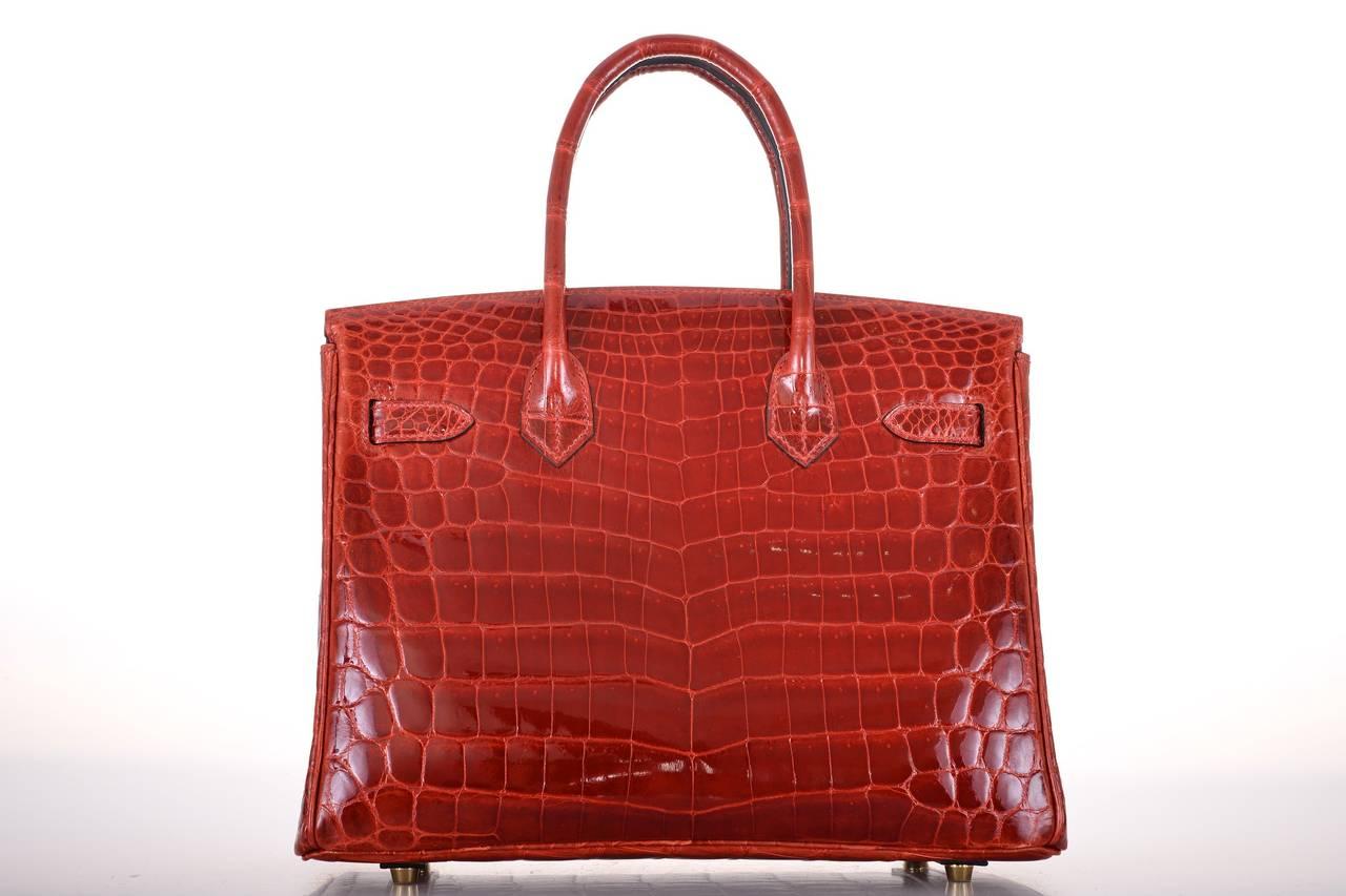 HERMES BIRKIN BAG 30CM ROUGE H CROCODILE GHW JaneFinds For Sale at ...