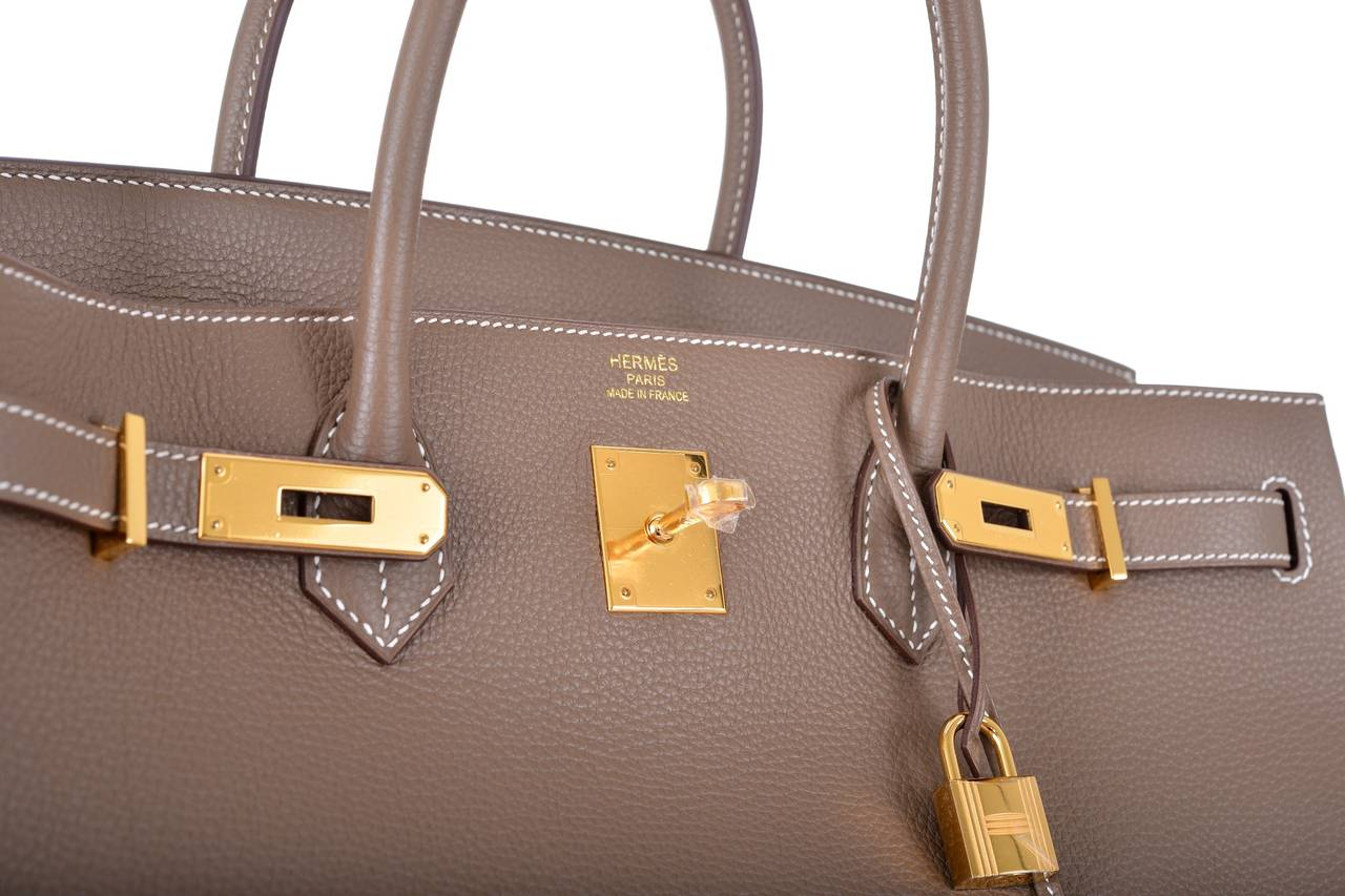 knock off croc brands - HERMES BIRKIN 40cm BAG ETOUPE GOLD HARDWARE AMAZING COMBO ...