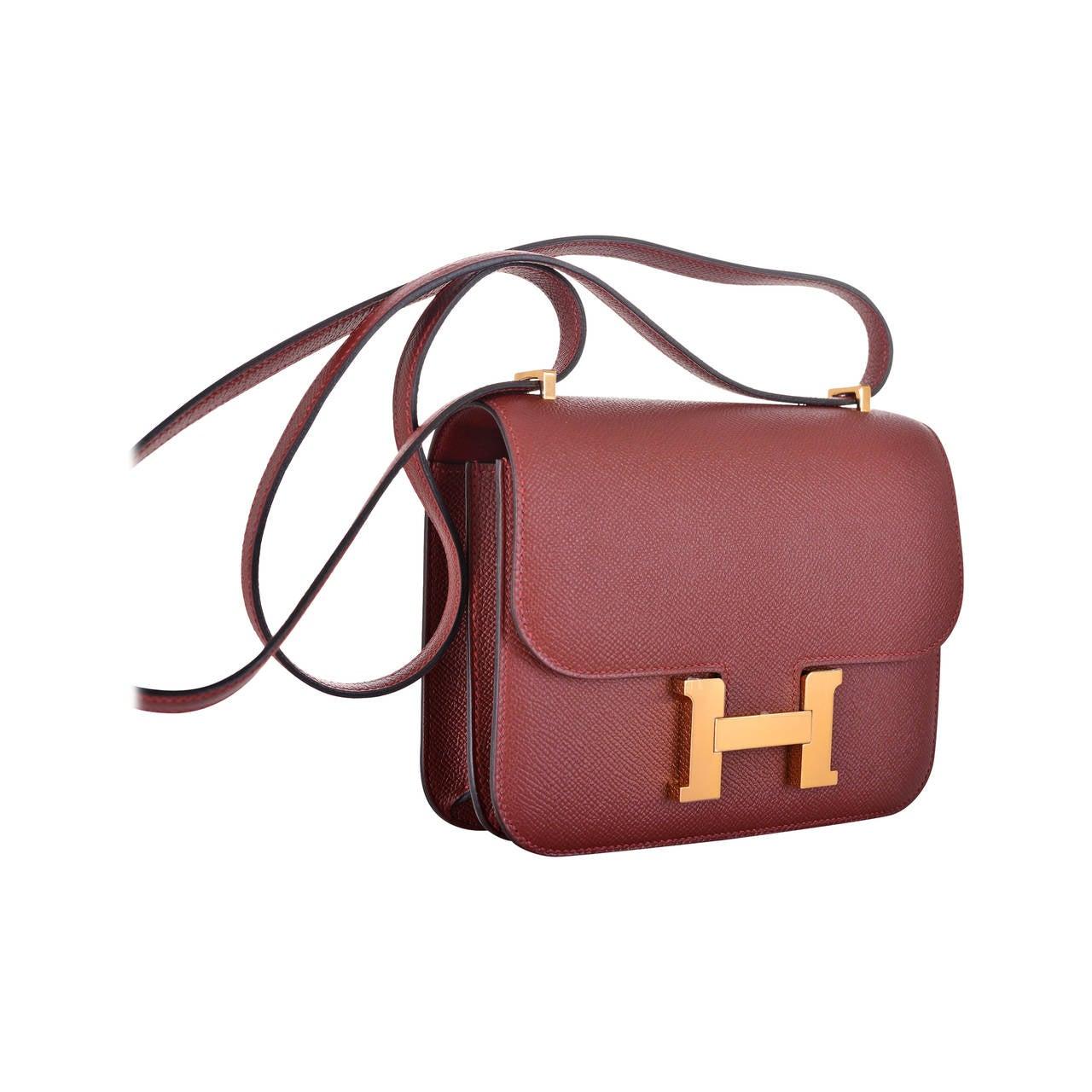 hermes constance bag 24cm double gusset sapphire epsom leather