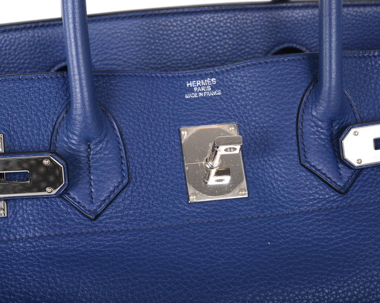 HERMES BIRKIN BAG SHOULDER JPG GORGEOUS BLUE 42cm PALLADIUM HARDWARE JaneFinds 3