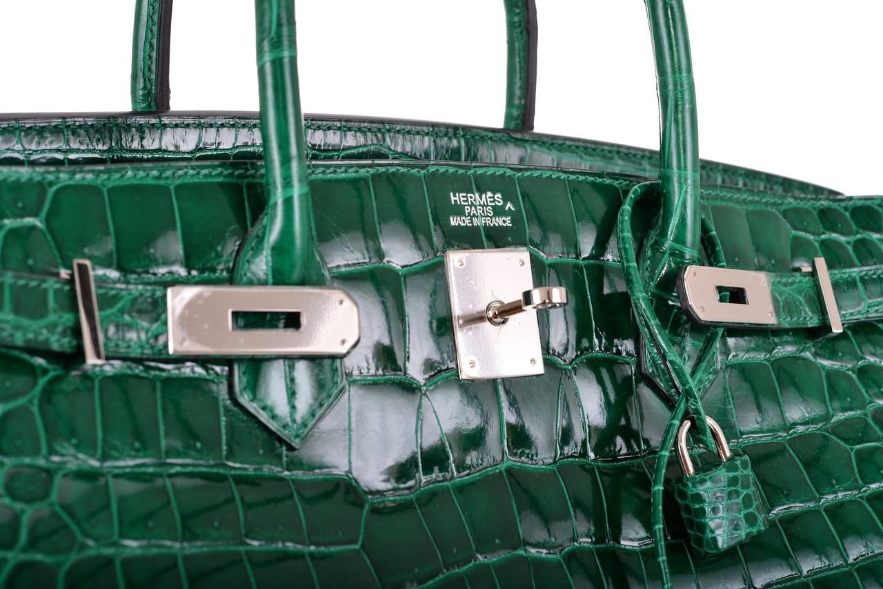 hermes croc birkin bag price - HERMES BIRKIN BAG 40CM EMERALD GREEN CROCODILE (vert ��meraude) PHW ...