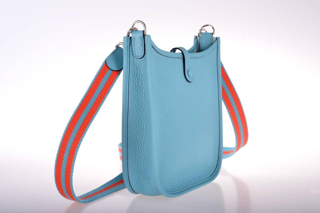 hermes leather goods - hermes evelyne saint cyr blue