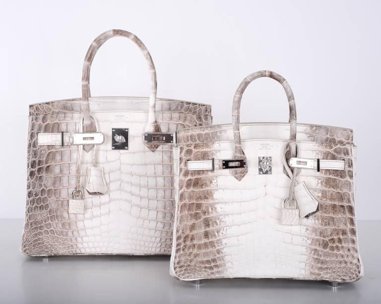 hermes birkin sale - HERMES BIRKIN BAG 25cm HIMALAYAN WHITE NILO CROCODILE at 1stdibs