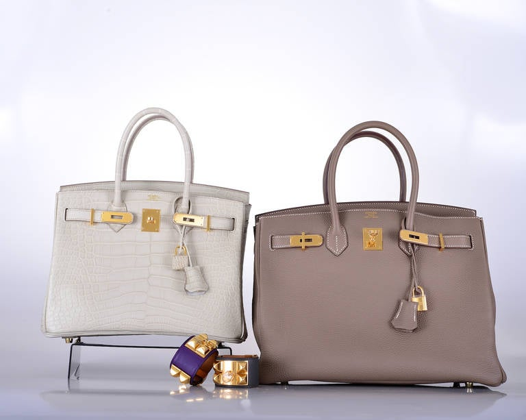 cheap hermes bags china - HERMES BIRKIN BAG ETOUPE 35cm GOLD HARDWARE AMAZING COMBO ...