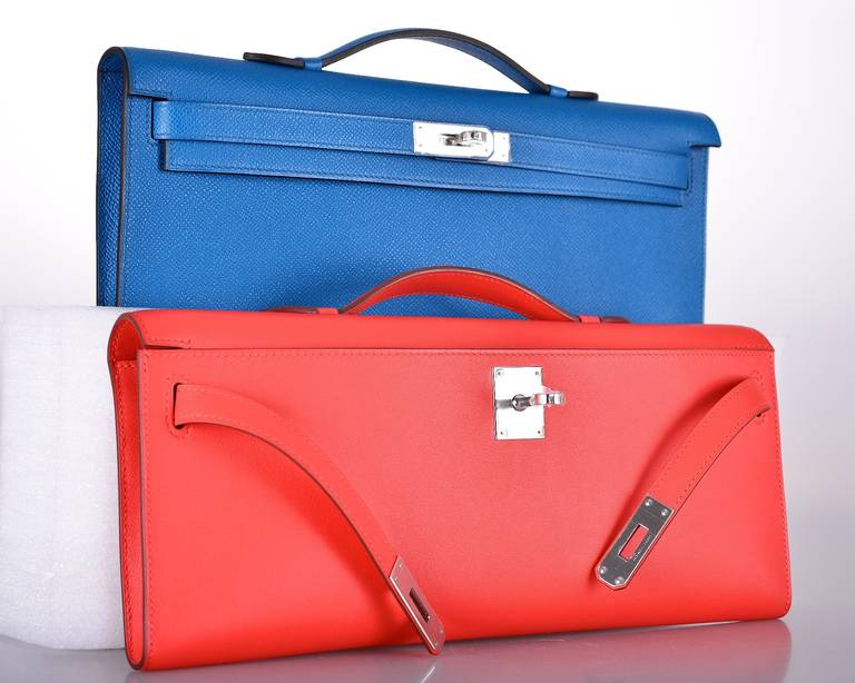 price of birkin bag - Hermes Rouge Orange Capucine Swift Kelly Cut Clutch JaneFinds at ...