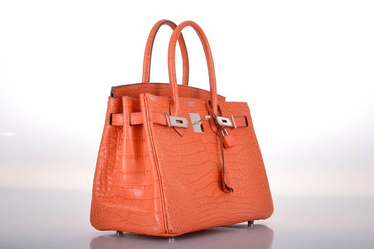 LOVE THIS HERMES BIRKIN BAG 30cm MATTE SANGUINE CROCODILE ...