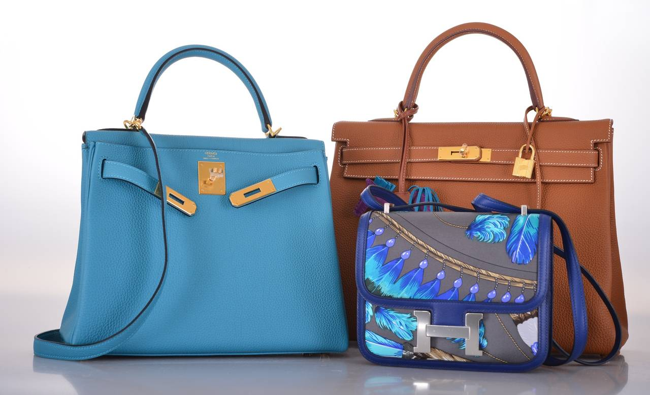 replica birkin handbags - HERMES KELLY 28cm KELLY TURQUOISE TOGO GOLD HARDWARE JaneFinds at ...