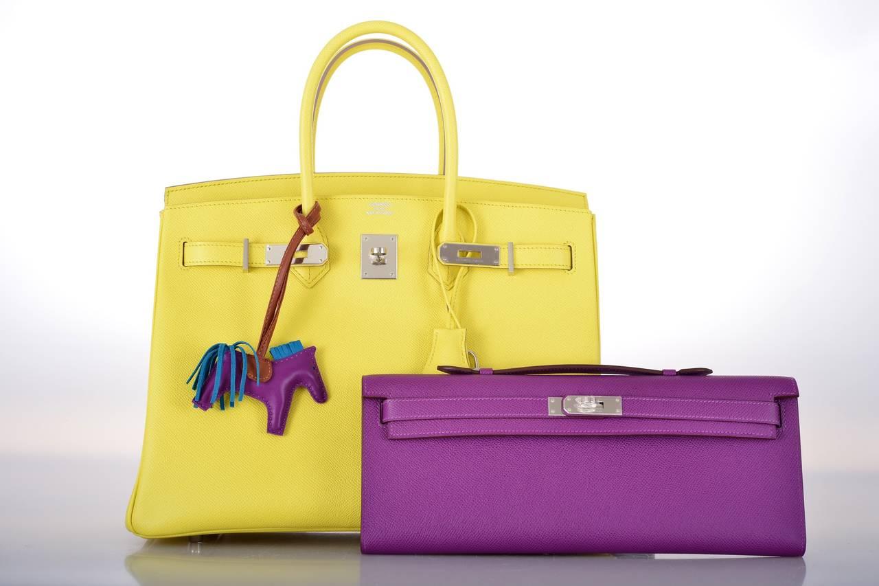 brighton backpack purse leather - HERMES KELLY ANEMONE BAG KELLY CUT CLUTCH POCHETTE PALLADIUM ...