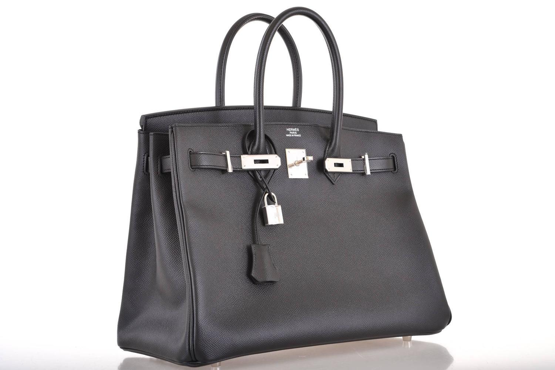 hermes birkin bag 35cm black epsom gold hardware