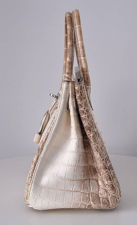 where to buy hermes - HERMES BIRKIN BAG 30cm HIMALAYAN WHITE NILOTICUS CROCODILE stamp M ...