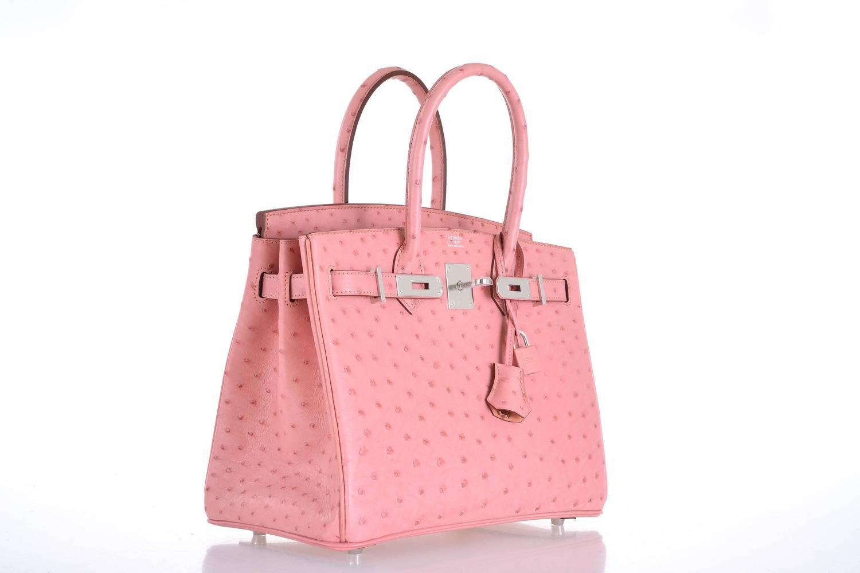 birkin bag.com - HERMES BIRKIN BAG 30CM OSTRICH TERRE CUITE PINK WITH PALL HARDWARE ...