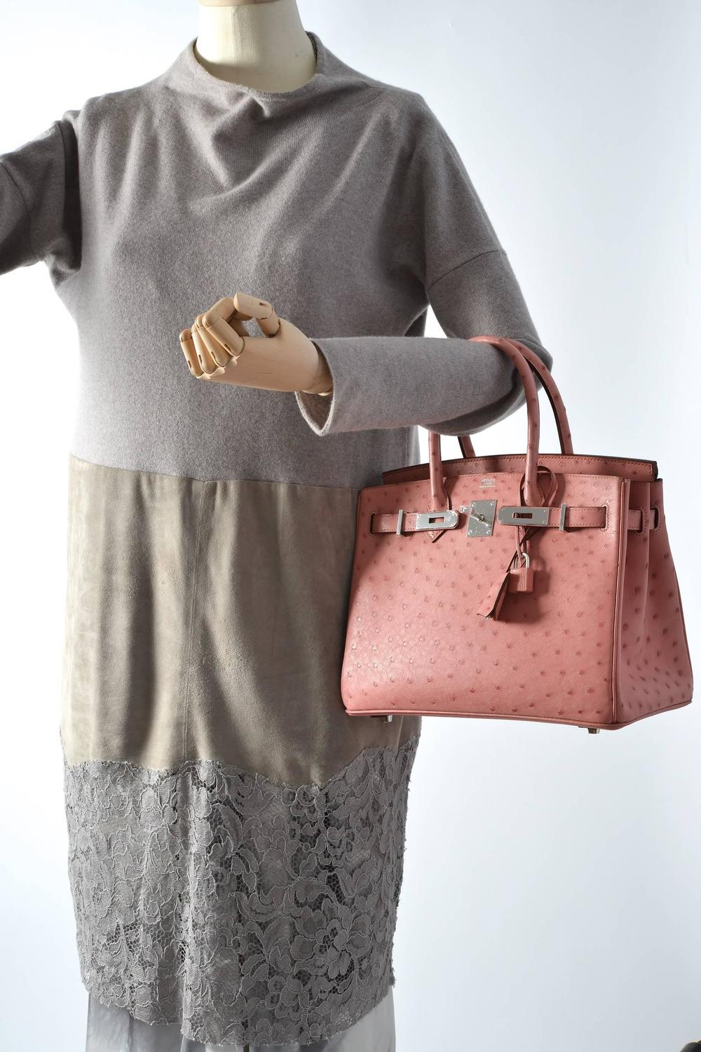 hermes paris wallet - HERMES BIRKIN BAG 30CM OSTRICH TERRE CUITE PINK WITH PALL HARDWARE ...