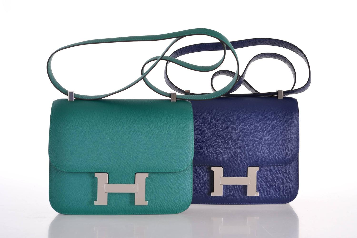 knock off hermes bags - hermes azap atoll blue wallet