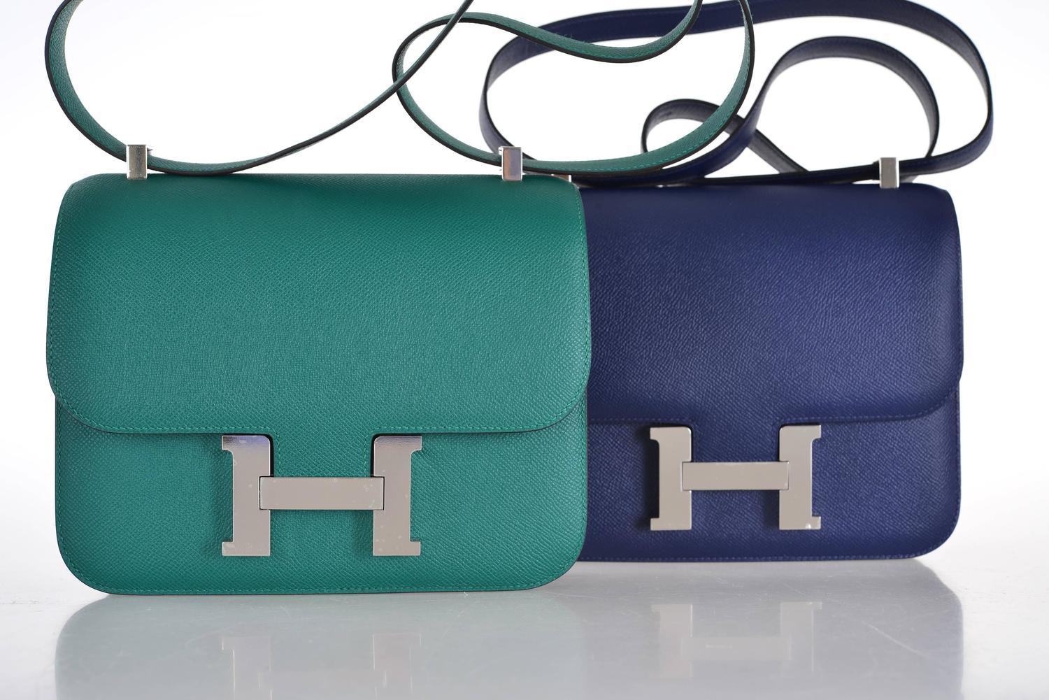 fake hermes bags for sale - hermes azap atoll blue wallet