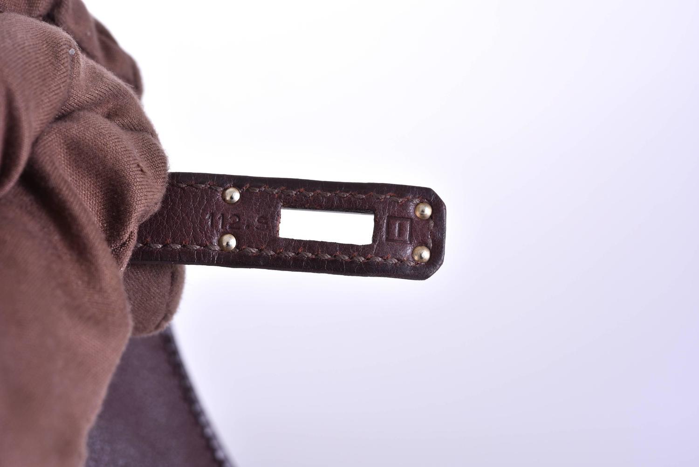 hermes kelley - Hermes Chocolate Swift Leather Kelly Pochette Bag Palladium ...