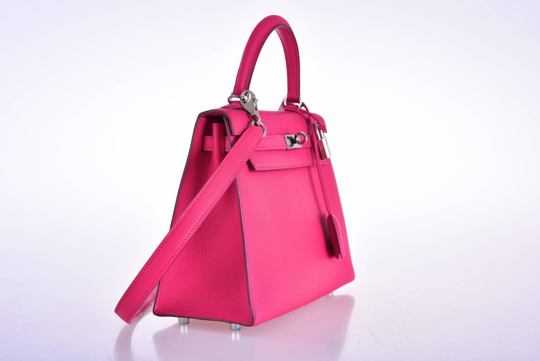 hermes wallets prices - Hermes Kelly 25cm Bag Pink Fuschia Sallier Chevre Goat skin ...