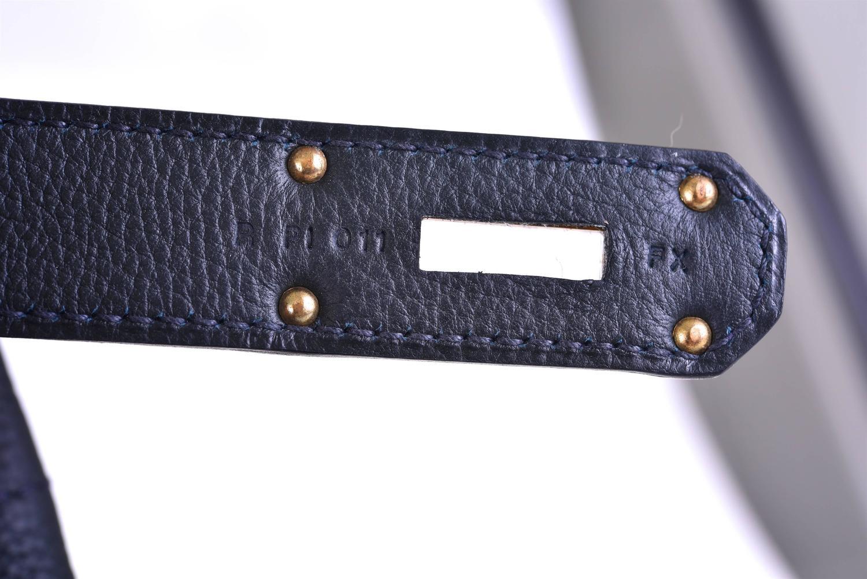 Hermes HAC Haut a Courroies Bleu Ocean Togo 40 cm Bag- Blue with ...