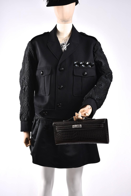 hermes replica - hermes graphite shiny porosus crocodile kelly cut, birkin bag price