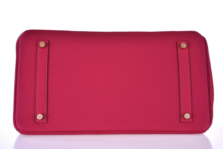 Hermes 35cm Birkin Bag Red Rubis Togo leather GHW INSANE COLOR ...