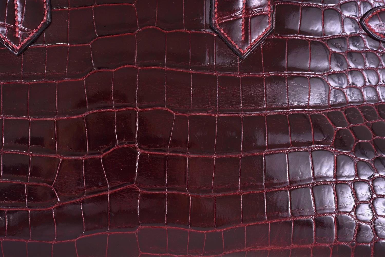 hermes hermes shiny borduex porosus clutch