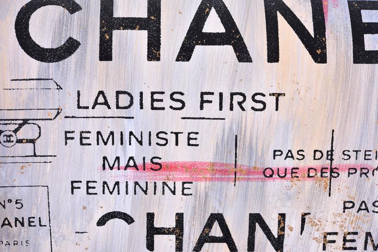 Chanel Medium Graffiti Logo Newspaper Print Double Flap Bag RUNWAY JaneFinds 5