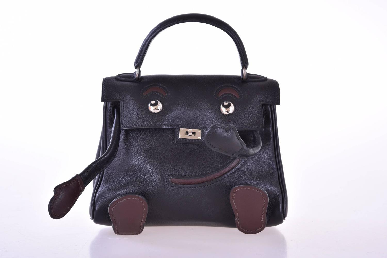 mini kelly hermes - Hermes Kelly Doll Bag Black Idole (Kelly Doll) Gulliver Black ...