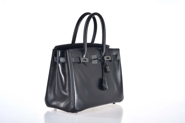 ostrich birkin bag - Hermes So-black Birkin bag 30cm Black Box Black Hardware JaneFinds ...