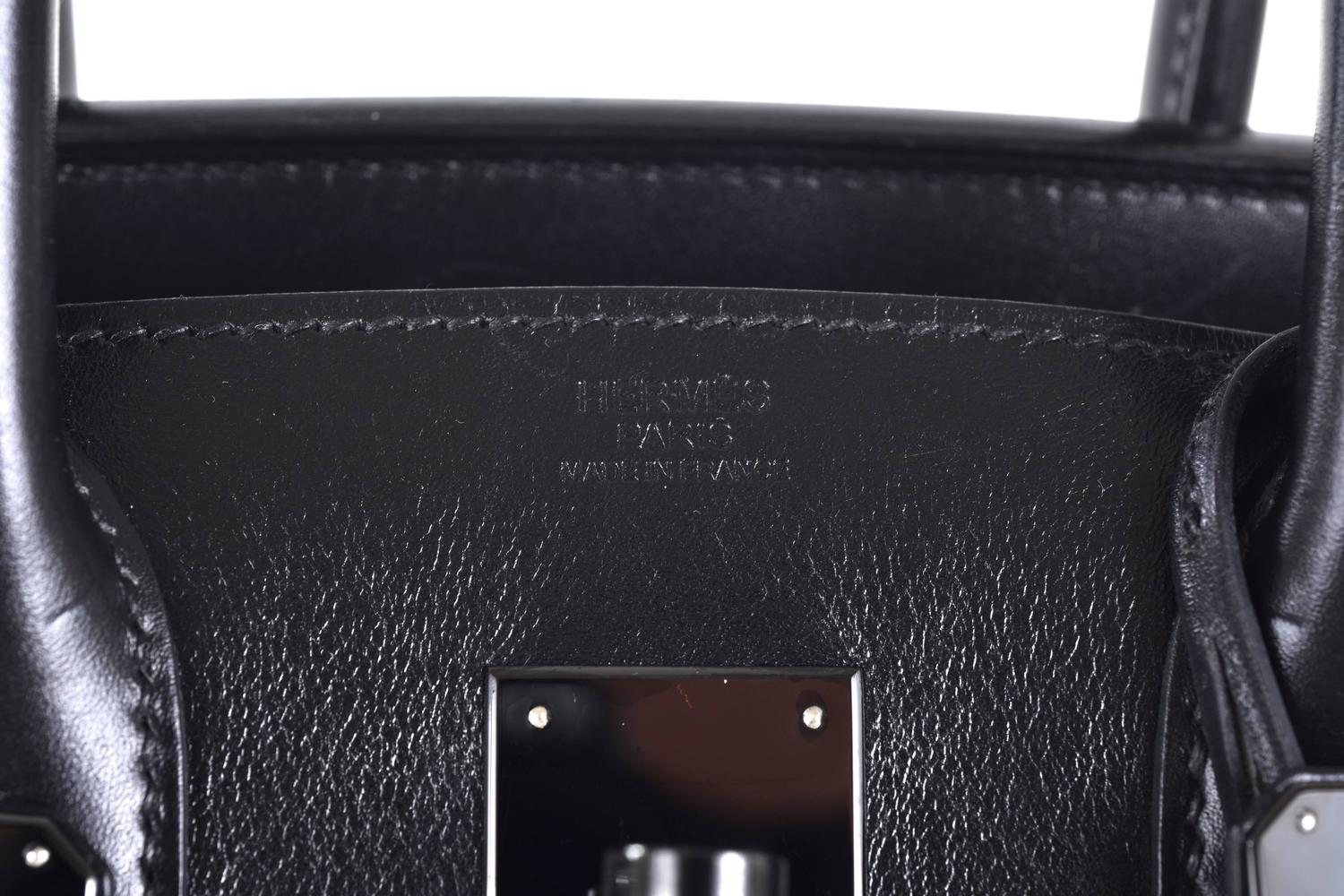 hermes birkin bag so black