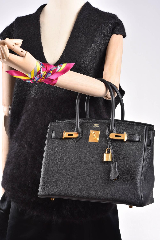 pursevalley replica - Hermes Birkin Bag 30cm Black Togo Gold Hardware JaneFinds at 1stdibs